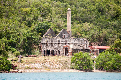 Unfinished construction at the US Virgin Islands