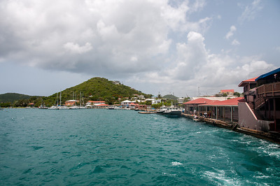 View of the port at the US Virgin Islands