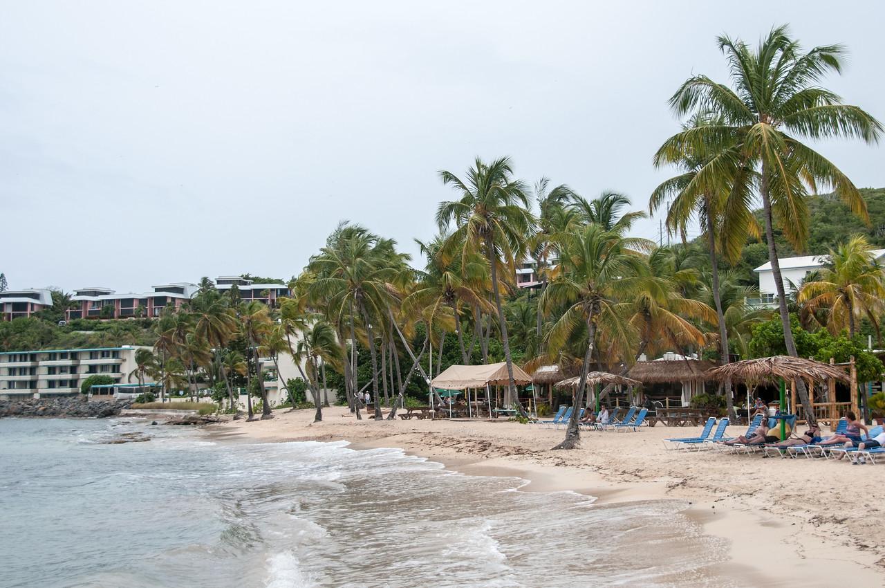 Beautiful beach line at the coast of US Virgin Islands