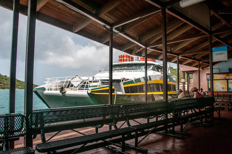 View of teh ferry from the station - US Virgin Islands