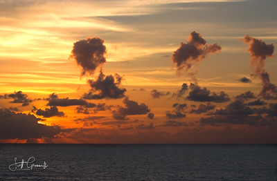 Sunset over Caribbean Sea
