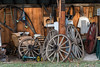 Wagon wheels and other treasures near Likely, British Columbia