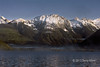 Cariboo Mountains early morning seen from Quesnel Lake, British Colubia