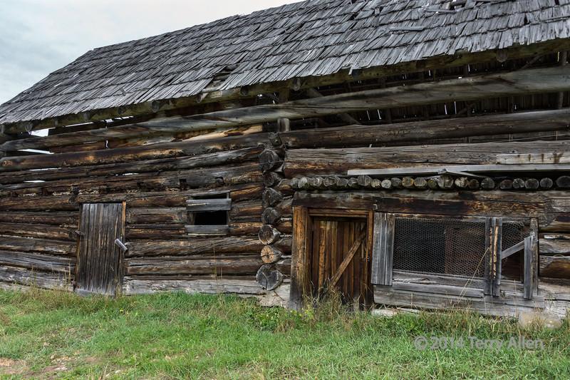 Old log barn near Likely, British Columbia