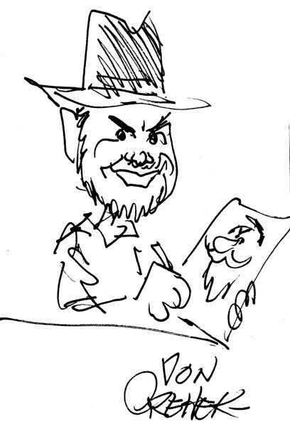 Caricature of Rob by Don Orehek.