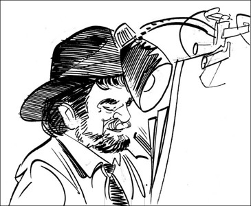 Caricature of Rob by Charles Treadwell.
