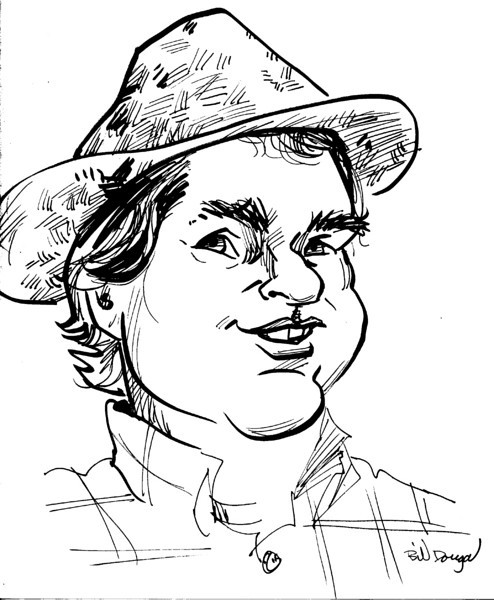Caricature of Rob by Bill Dougal.