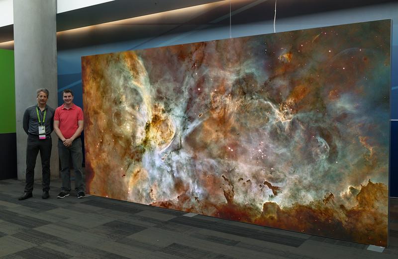 Carina Nebula Dreamscape - Light Box Simulation