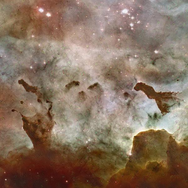 "Carina Nebula Dreamscape - 40"" x 40"" Detail #3"