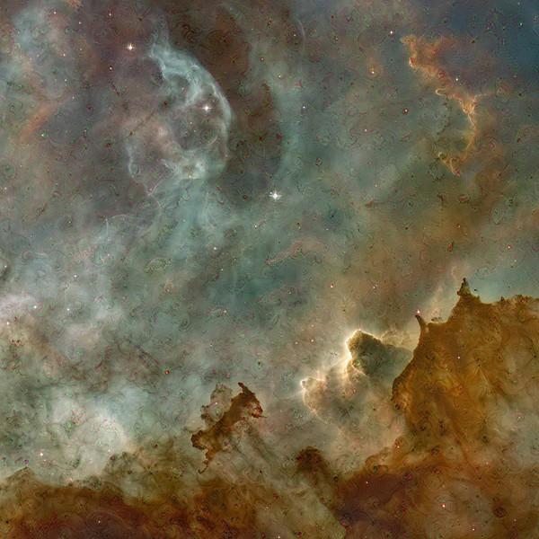 "Carina Nebula Dreamscape - 40"" x 40"" Detail #4"
