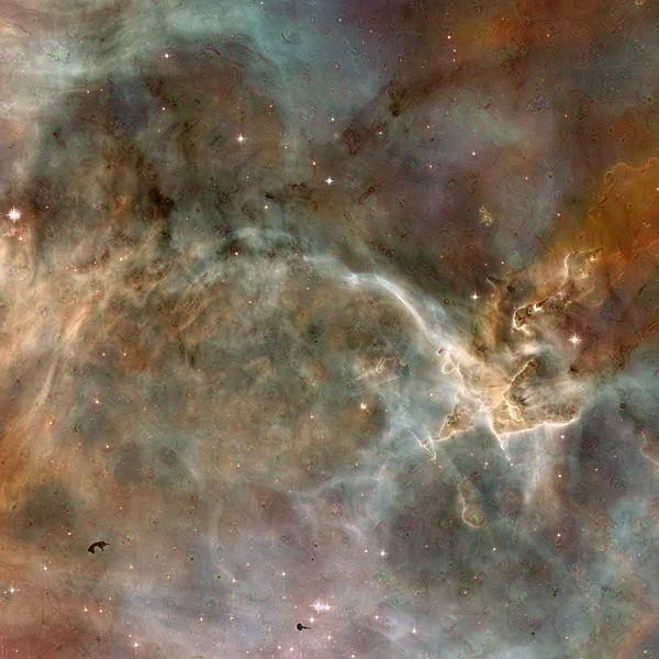 "Carina Nebula Dreamscape - 40"" x 40"" Detail #2"
