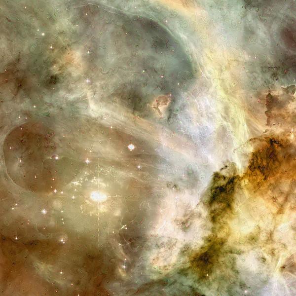 "Carina Nebula Dreamscape - 40"" x 40"" Detail #1"