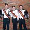 Clarinet in marching band (far right)
