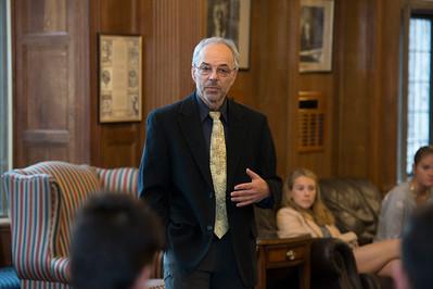 Carl Safina speaks during Morning Meeting
