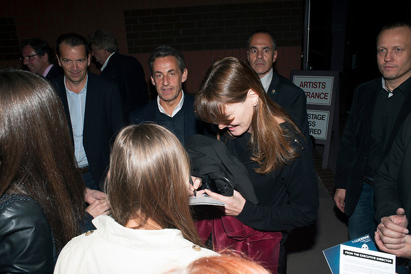 Carla Bruni at Luckman Fine Arts Complex.