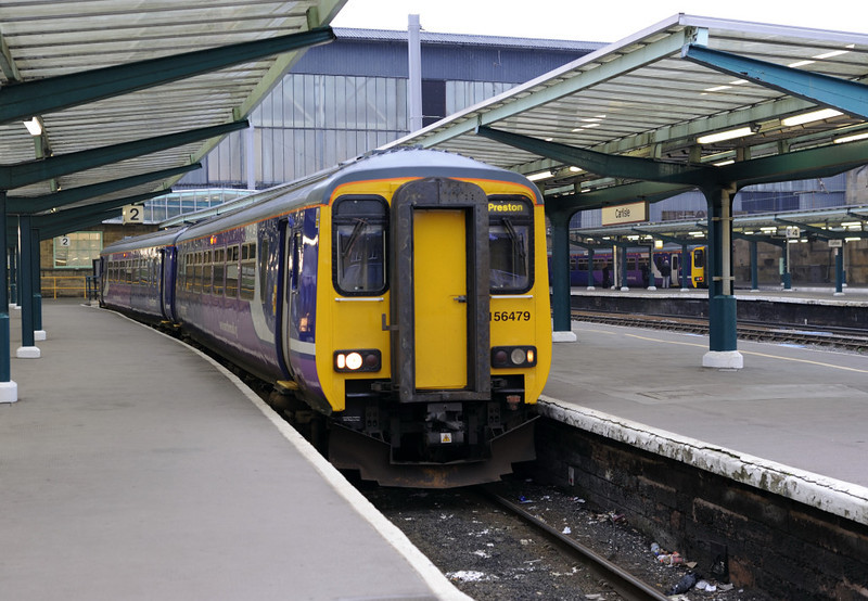 156479, Carlisle, Fri 16 November 2012 - 1511.  Northern's 1512 to Preston via Barrow.