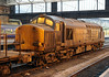 37609 & 37608, 3S77, Carlisle, Fri 16 November 2012 - 1605 2.   ...with the trailing loco in typical condition.