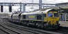 66526 Driver Steve Dunn (George), 4S11, Carlisle, Fri 16 november 2012 - 1201.  Freightliner's 0715 Drax - Killloch coal empties.