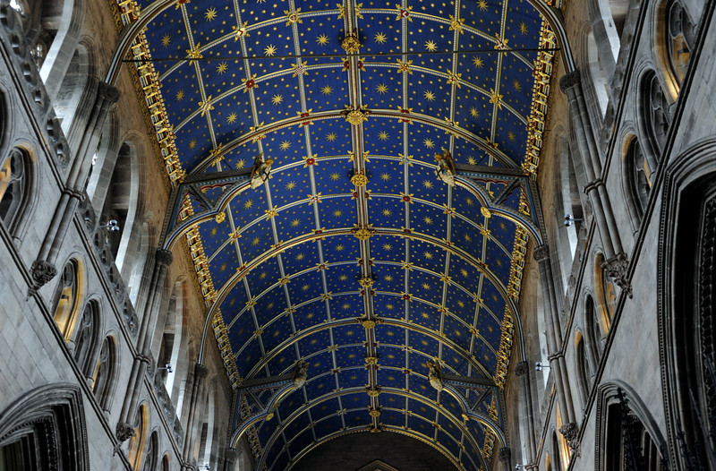 Carlisle Cathedral, Thurs 23 February 2012 2: The wonderful painted ceiling.