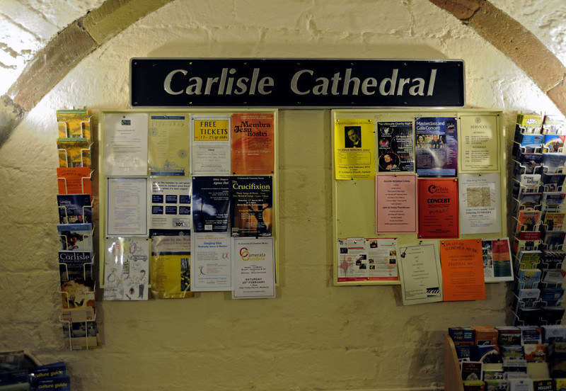 Carlisle Cathedral, Thurs 23 February 2012 1: Nameplate from Driving Van Trailer 82121.