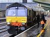 Crew change, 4M44, Carlisle, Wed 21 December 2011 - 1111.   DRS's 0847 Mossend - Daventry intermodal.