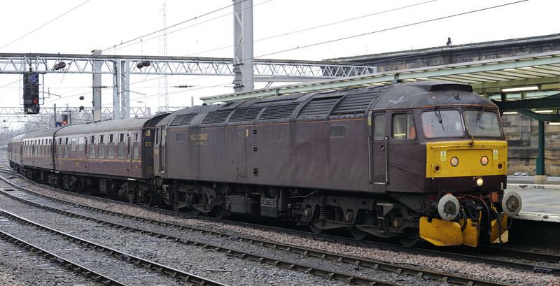 47760, 5Z96, Carlisle, Wed 21 December 2011 - 1115.  A Carnforth - Bo'ness ECS move with Scottish Railway Preservation Society coaches.