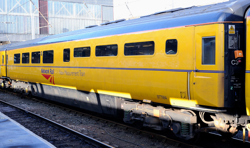 New Measurement Train staff coach ADB 977984, Carlisle, Mon 18 January 2010