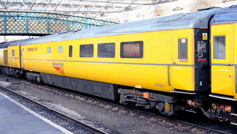 New Measurement Train generator coach ADB 977995, Carlisle, Mon 18 January 2010