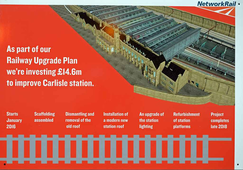 Station upgrade, Carlisle Citadel, Wed 6 July 2016 1.  Here are views of the work, beginning with this one of the  project plan.