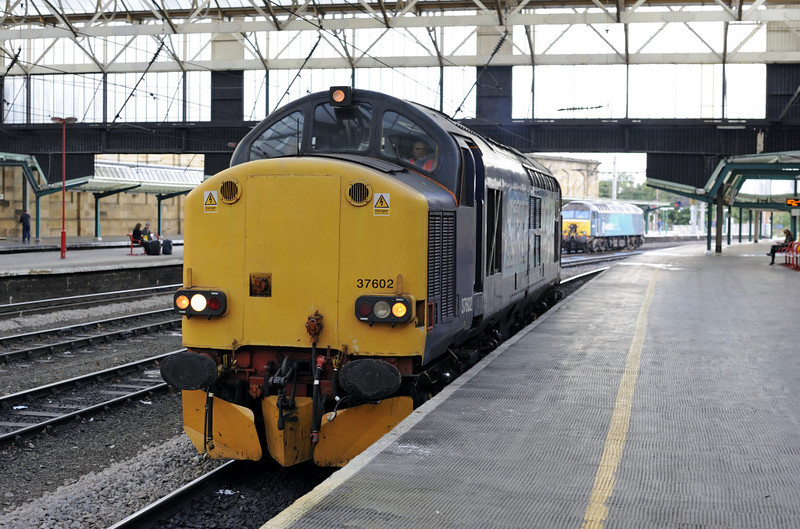 37602, Carlisle, Fri 29 June 2012 - 0717.  The Tractor heads for Kingmoor, working unknown.