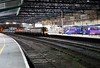 350402, 1M97, Carlisle, Wed 2 May 2018 - 2343.  TransPennine's 2215 Edinburgh - Manchester Airport, the last passenger train of the day.