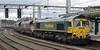 66566, 4S08, Carlisle, Mon 7 October 2013 - 1443.  Freightliner's 1026 York - New Cumnock coal empties arrives from the Hexham line.