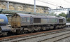 66430, 3J11, Carlisle, Mon 7 October 2013.  Both locos show the effects of water cannon work.