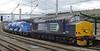 37688 Kingmoor TMD & 37409 Lord Hinton, 3S77, Carlisle, Mon 7 October 2013 1 - 1632.   DRS's north east railhead treatment train returns to Kingmoor from its first sortie of 2013.