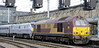 67008 & 91102 City of York, 1E06, Carlisle, Sat 15 September 2012 2 - 0944.  Setting off for Newcastle.