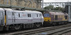 91102 City of York & 67008, 1E06, Carlisle, Sat 15 September 2012 1 - 0920.  The 67 attaches for the run to Newcastle.