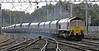 66512, 4S11, Carlisle, Fri 14 September 2012 - 1142.  Freightliner's 0659  Ferrybridge - Settle - Killoch empty coal winds towards platform 3.