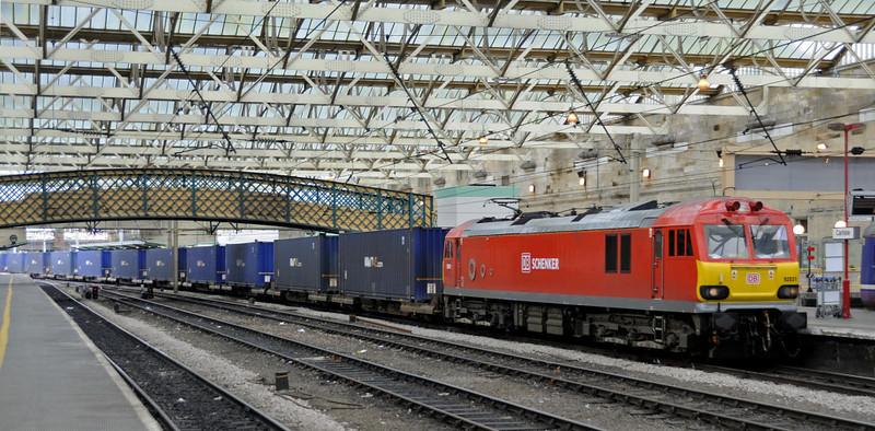 92031, 4M63, Carlisle, Fri 14 September 2012 - 1215.  DB Schenker's FO 1019 Mossend - Hams Hall.
