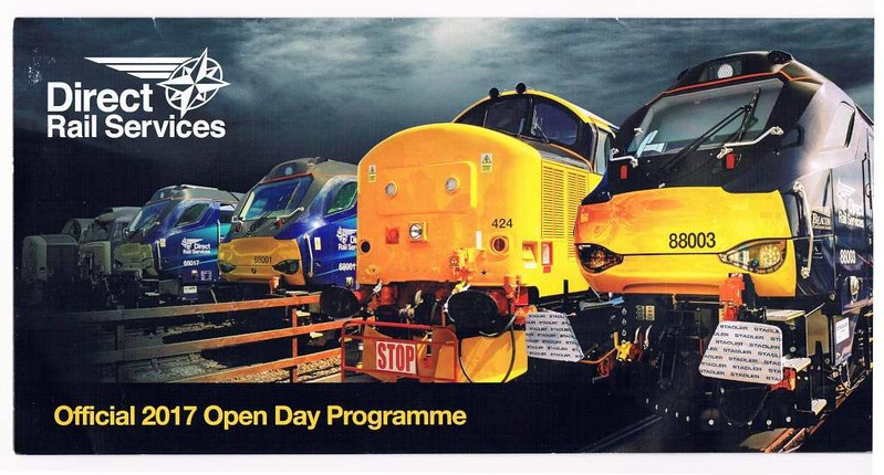 Welcome to the DRS open day! Kingmoor, Carlisle, Sat 22 July 2017