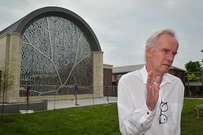 Artist Jan Hendrix discusses the stainless steel artwork he designed that adornsPembroke HIll's new dining hall.