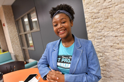 Akilah Walker, 15, interned with KC Pet Project.