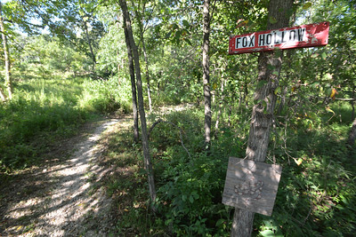 Fox Hollow Trail at Swope Park offers a warning sign to look out for snakes.