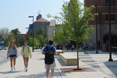 Random campus photos in and around the student union at KU, Aug. 31, 2021. Photos by Carlos Moreno