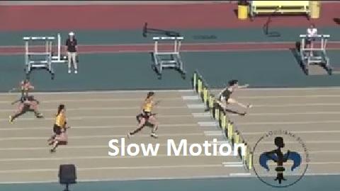 20160506 Class 2A Girls 100m Hurdles  LHSAA Class 1A-2A outdoor championships Slow4
