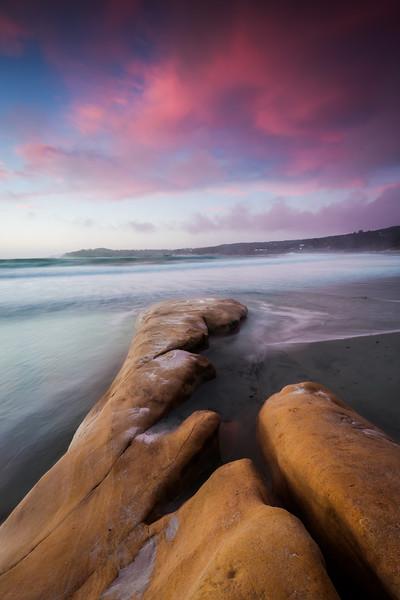 Carmel Beach Clearing Storm