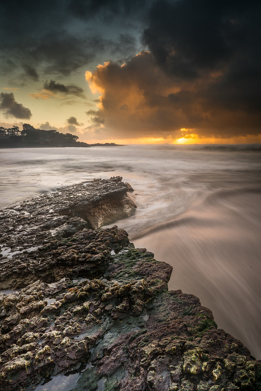 A storm moves in at Carmel Beach