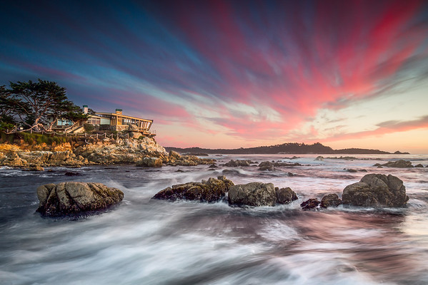 Carmel Sunset at Sea Burst House