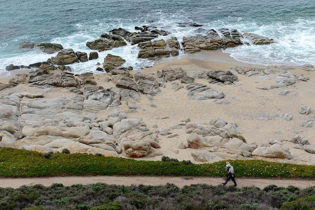 . Hiking at Carmel River State Beach on Wednesday, March 21, 2018.  (Vern Fisher - Monterey Herald)