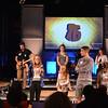 Students responding to bible quiz