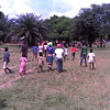 Villagers coming in for Ebola education seminar
